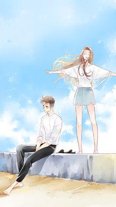 Cute Couple Drawings, Cute Couple Art, Anime Couples Drawings, Anime Love Couple, Anime Couples Manga, Anime Poses, Cute Drawings, Anime Cupples, Fanarts Anime