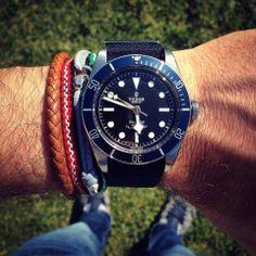 Brand new #Tudor Black Bay Blue on the wrist