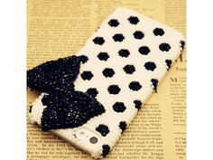 Lovely 3D Polka Dot + Bow iPhone 5 Case