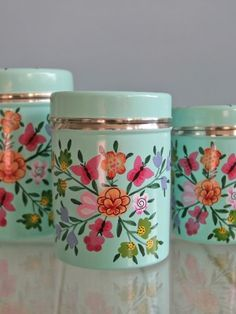 Berry Red Butterfly Storage Containers