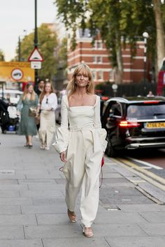 Attendees at London Fashion Week Spring 2020 - Street Fashion