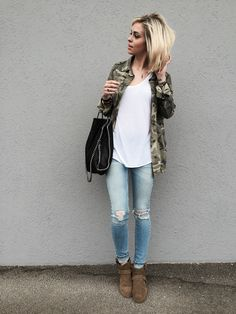 Ralf Isabel Marant boots, destroy denim & Camo jacket