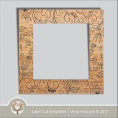 Product laser cut photo frames template, online laser cut design store. @ shop-msl.com Frame Template, Templates, Cut Photo, Kids Decor, Laser Cutting, Frames, Store, Design, Souvenirs