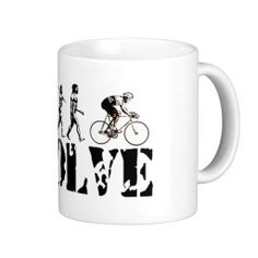 Bicycle Cycling Bike Riding Evolution Sports Art Mug #Mugs #Bicycle #Gifts #sports