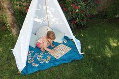 5 minute backyard teepee