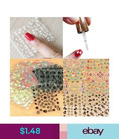 Nail Art Accessories 10 Sheets Nail Art Transfer Stickers 3D Design  Manicure Tips Decal Decorations   e12190fb6f7d
