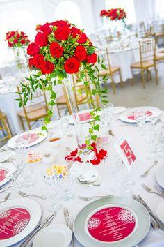 Canada Day Wedding Reception Tables