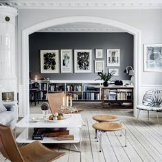 Style and Create — The inspiring home of Danish interior stylist Cille Grut Photo by Chris Tonnesen for Elle Decoration Denmark Elle Decor, Interior Design Inspiration, Room Inspiration, Inspiration Boards, Home Deco, Home Living Room, Living Spaces, Danish Living Room, Living Area