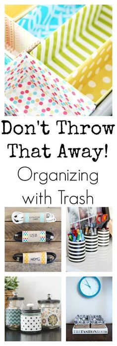 Organizing can get expensive! These ideas are amazing. Using boxes, cans and toilet paper rolls to get organized.