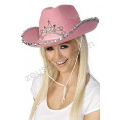 Cappello Cow Boy Feltro Rosa paillettes 8