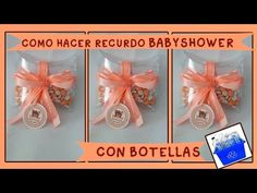 RECUERDITO BABYSHOWER/BAUTIZO CON BOTELLAS facil y economico - YouTube