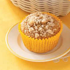 Cinnamon Crumb Muffins: I just popped these in the oven, let's see how they turn out :) A