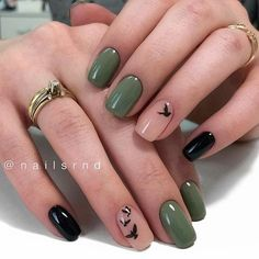 Image about girl in Nails / Nail Polish / Vernis / Manicure by Mouna DramaQueen Almond Shape Nails, Almond Nails, Cute Nails, Pretty Nails, Cute Fall Nails, Hair And Nails, My Nails, Instagram Nails, Instagram Ideas