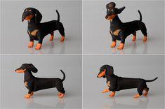 BJD dog dachshund. by ElleoDolls on Etsy