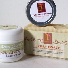 Sensitive skincare gift set with Fragrance Free Shea Butter Soap by dianjane