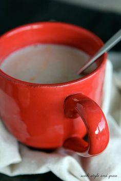 Warm Sleepy Time Almond Milk, I just did it with almond milk, nutmeg, cinnamon, and vanilla extract and it was AMAZING.