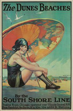 The Dunes Beaches Vintage Poster | artist: Urgelles, c. 1925 | LANTERN PRESS