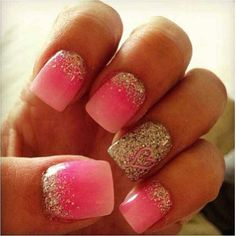 Silver Pink Sparkles