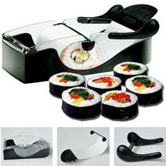 I sushi-addicted impazziranno per questo gadget: d'ora in poi potranno prepararsi il sushi a casa, risparmiando così denaro e tempo di attesa. Questo simpatico aggeggio è molto semplice da usare e da lavare. Fare un sushi-party non è mai stato così divertente!