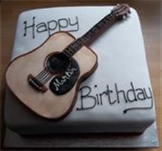 Picture of Acoustic Guitar Cake