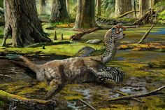 A new species of bird–like dinosaur was recently discovered at a construction site in Southern China. Dubbed Tongtianlong limosus, the winged creature had died after becoming mired in mud about million years ago– hence it's nickname, the 'Mud Dragon. Dinosaur With Wings, Dragon Fossil, Feathered Dinosaurs, Stuck In The Mud, Historia Natural, Dinosaur Fossils, Dinosaur Games, Prehistoric Creatures, Prehistoric Wildlife