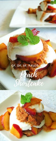 Peach Shortcake with Coconut Cream from Flash Fiction Kitchen (paleo, AIP)