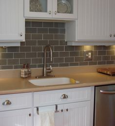 kitchen backsplash white cabinets - Google Search