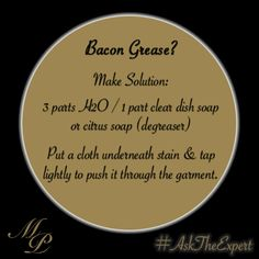 #bacon #diy #stains #stain #cooking #cleaning
