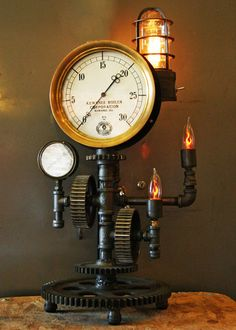 Farmall Dash Lamp, Steam Gauge - Sold by Machine Age Lamps | Machine Age Lamps, LLC