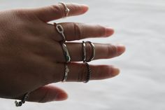 Assorted Size-Classic Midi Rings , Basic Knuckle Rings , Silver Midi Rings Set ,  Gold Cute Gifts , Trending Thin Rings Stacking  Rings by FairyAntique on Etsy