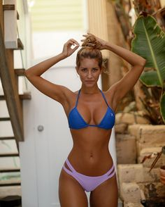 "boutinela: "" Body x swimsuit goals  Babe wearing the Laguna blue bikini top x lilac dual strap bottom ✖️ shop at www.boutinela.com #boutinela #boutinelababe """