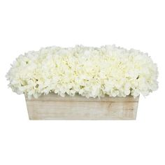 This artificial hydrangea arrangement will add color and life to any spot in your home or office. Measurements are approximate, and will be determined by your final shaping of the plant upon unpacking it. No arranging is necessary, only minor shaping, with the way in which we package and ship the products. This product is only recommended for indoor use.