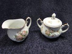 Johann Haviland Tea Rose US Air Force Pattern Creamer Sugar with Lid in Pottery & Glass, Pottery & China, China & Dinnerware | eBay