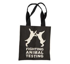 Fighting Against Animal Testing tas - een shopper met een statement!  http://www.lush.nl/shop/product/product/path/182_183/id/1386/cadeaus-onder-%E2%82%AC-20-fighting-against-animal-testing-tas