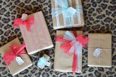 Day 4: Gift Wrapping Ideas on  www.allthingspinkandpretty.com