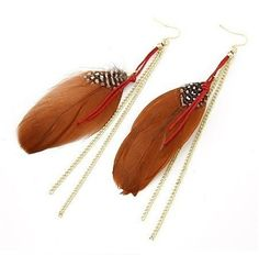 Off the Chain Feather Earrings Rs.450