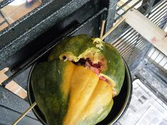 Use hollowed out squash or melon as a great foraging toy. Secure the halves together with bamboo skewers to make it hard to get into. Parrot Pet, Parrot Toys, Rat Toys, Bird Toys, Cockatoo Toys, Broccoli Stalk, Bamboo Skewers, Conure, Small Birds