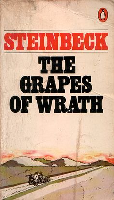 The Grapes of Wrath by John Steinbeck **the classic novel of the depression, dust bowl years and one family's travels to survive the move to the groves of California. Top Ten Books, I Love Books, Good Books, Books To Read, My Books, Music Books, Classic Literature, Classic Books, Book Writer