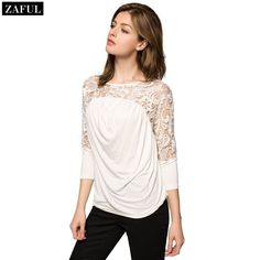 Aliexpress.com : Buy ZAFULSummer Style 2015 Autumn Women's Lace Shirt Slim Plus Size Organza Tops O neck Long sleeve Fashion Hollow Crochet Blouse from Reliable lace wallpaper suppliers on ZAFUL | Alibaba Group