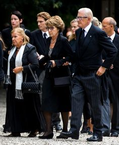 The whole royal family of Netherland attend the private funeral of Prince Friso of Netherland at the Stulpkerk in Lage Vuursche