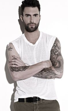 Adam Levine - perfectly symmetrical face and piercing eyes