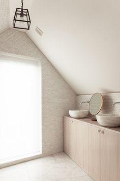 Herringbone House Bathroom by Atelier Chan Chan, London, Thomas Giddings Photograph | Remodelista