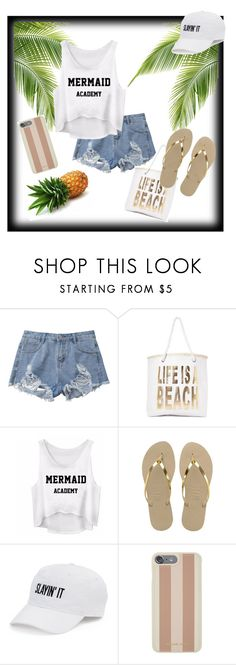 """""""My lazy summer day outfit"""" by emoji678 ❤ liked on Polyvore featuring Nasty Gal, Havaianas, SO and Michael Kors"""