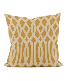 Another great find on #zulily! Gold Wide Trellis Throw Pillow #zulilyfinds