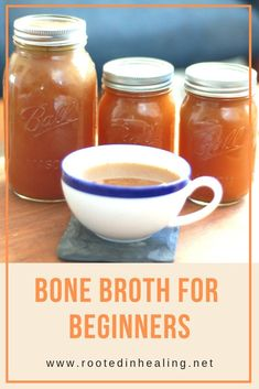 Bone Broth for Beginners - Rooted In Healing - Are you looking for paleo AIP delicious and easy recipes? Try this AIP bone broth for beginners! Slow Cooker Bone Broth, Bone Broth Soup, Bone Broth Crockpot, Bone Broth Diet Plan, Drinking Bone Broth, Paleo Recipes, Soup Recipes, Whole Food Recipes, Easy Recipes