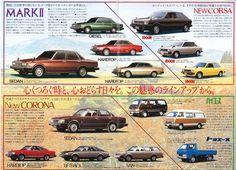 TOYOTA MARK Ⅱ, New CORONA, Japanese Brochure  Classic Car Catalog Vintage jc09
