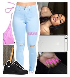 """""""i be feelin like the man when i walk through"""" by lamamig ❤ liked on Polyvore featuring Native Union, Louis Vuitton and adidas"""