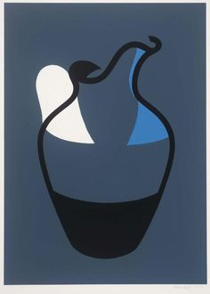 Patrick Caulfield 'Water Jug', © The estate of Patrick Caulfield. All Rights Reserved, DACS 2016 Picasso Still Life, James Rosenquist, Claes Oldenburg, Jasper Johns, Photorealism, Andy Warhol, Colour Schemes, Graphic Prints, Archaeology