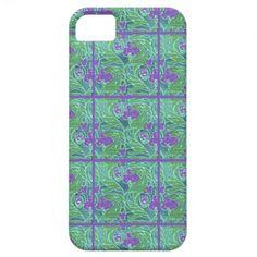 Art Nouveau Purple Teal Floral iPhone5