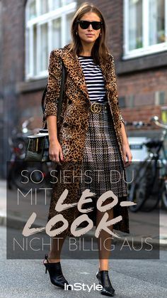 Instyle Clothing, Leo Print, Zodiac Sign Fashion, Animal Print Outfits, Mode Blog, Tiger Stripes, Leo Zodiac, Weekend Outfit, Fall Winter Outfits